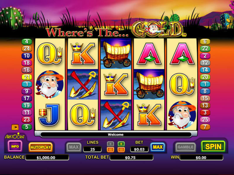 Where's The Gold Slot by Aristocrat